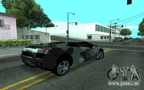 Lamborghini Gallardo Tunable für GTA San Andreas Innenansicht