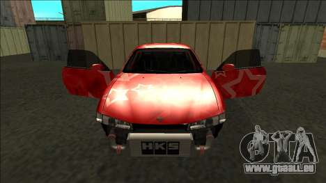 Nissan Silvia S14 Drift Red Star für GTA San Andreas Räder