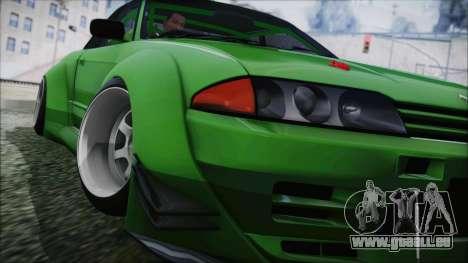 Nissan Skyline R32 Rocket Bunny pour GTA San Andreas sur la vue arrière gauche