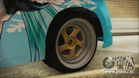 Toyota Alphard Hatsune Miku für GTA San Andreas zurück linke Ansicht