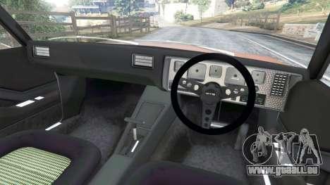 GTA 5 Holden Monaro GTS arrière droit vue de côté
