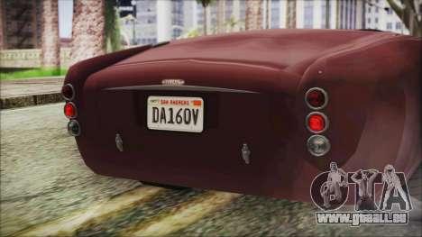 GTA 5 Declasse Mamba IVF pour GTA San Andreas vue intérieure