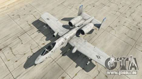 GTA 5 Fairchild Republic A-10A Thunderbolt II v1.2 quatrième capture d'écran