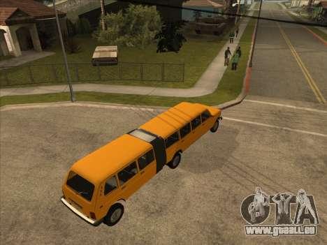 Der trailer zu dem VAZ 2131 Hyper für GTA San Andreas zurück linke Ansicht
