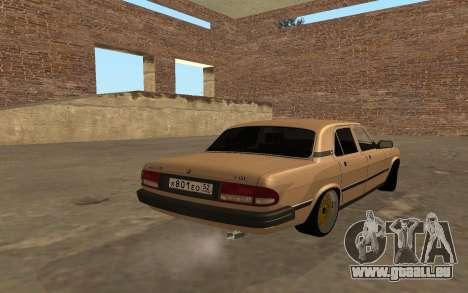 GAZ 3110 Volga für GTA San Andreas zurück linke Ansicht