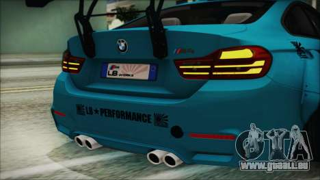 BMW M4 2014 Liberty Walk pour GTA San Andreas vue de côté