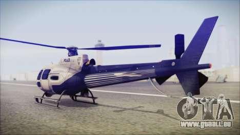 Batman Arkham Knight Police-Swat Helicopter für GTA San Andreas linke Ansicht