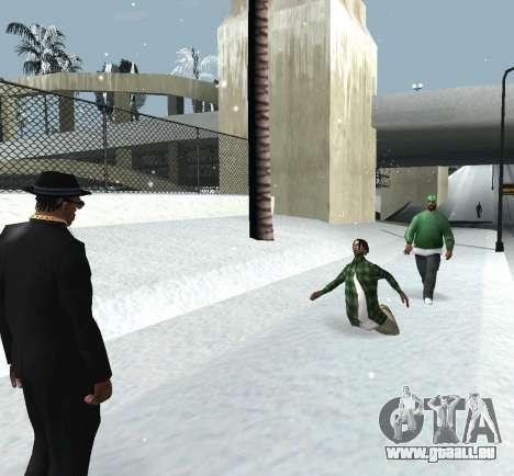 Jeter de la neige pour GTA San Andreas quatrième écran