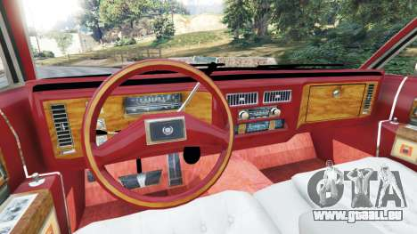GTA 5 Cadillac Fleetwood 1985 Limousine [Beta] hinten rechts