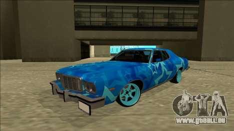 Ford Gran Torino Drift Blue Star pour GTA San Andreas sur la vue arrière gauche