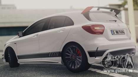 Mercedes-Benz A45 AMG Edition 1 pour GTA San Andreas laissé vue