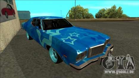 Ford Gran Torino Drift Blue Star für GTA San Andreas linke Ansicht