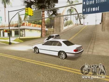 BMW 750i für GTA San Andreas Unteransicht