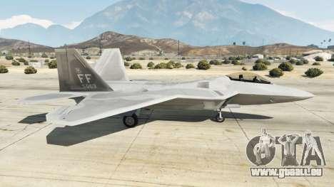 GTA 5 Lockheed Martin F-22 Raptor deuxième capture d'écran