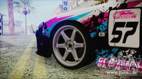 Nissan Silvia S15 Itasha Beta für GTA San Andreas zurück linke Ansicht
