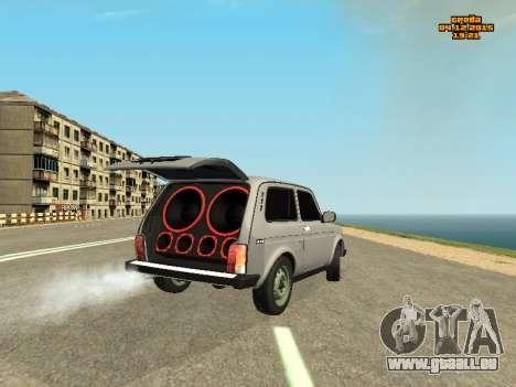 VAZ Niva 2123 auto Sound für GTA San Andreas zurück linke Ansicht