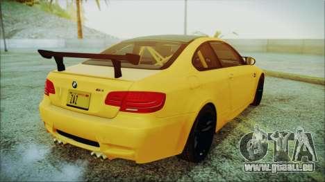 BMW M3 GTS 2011 IVF pour GTA San Andreas laissé vue