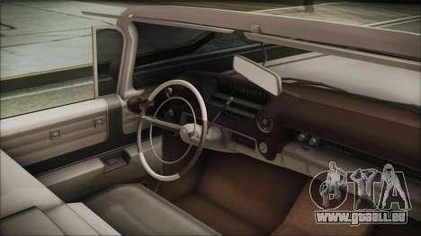 Cadillac Eldorado Biarritz 1959 pour GTA San Andreas vue de droite