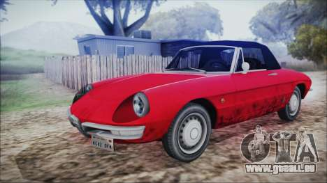 Alfa Romeo Spider Duetto 1966 für GTA San Andreas Rückansicht