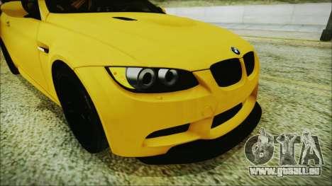 BMW M3 GTS 2011 IVF pour GTA San Andreas vue arrière