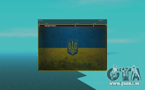 Sampgui und Maus im Stil der ukrainischen Flagge für GTA San Andreas