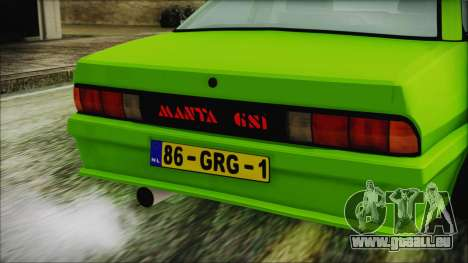 Opel Manta New Kids HQ pour GTA San Andreas vue arrière