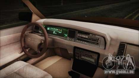 Toyota Crown Royal Saloon 1994 pour GTA San Andreas vue de droite