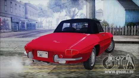 Alfa Romeo Spider Duetto 1966 für GTA San Andreas linke Ansicht