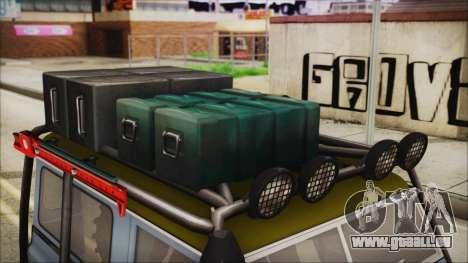 Land Rover Series 3 Off-Road für GTA San Andreas Rückansicht