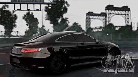 Mercedes-Benz S63 Coupe AMG 2015 pour GTA 4 est une gauche