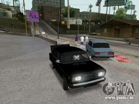 VAZ 2107-107 pour GTA San Andreas vue de dessus