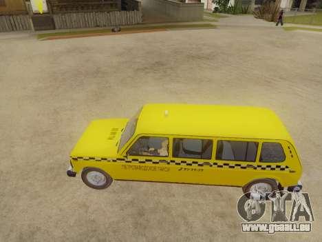 VAZ 2131 7-Porte de Taxi pour GTA San Andreas sur la vue arrière gauche