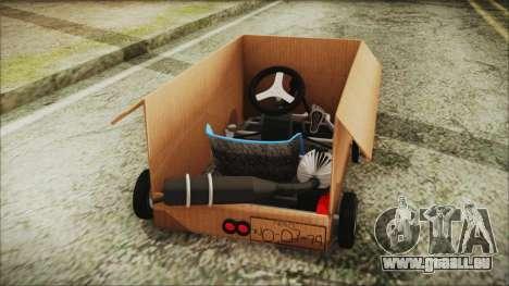 Kart-Box pour GTA San Andreas sur la vue arrière gauche