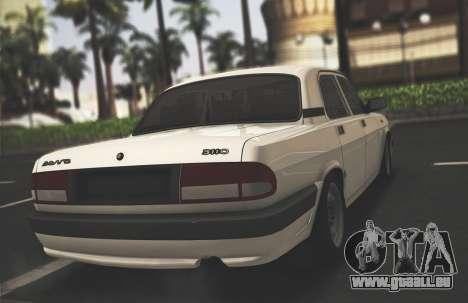 GAZ 3110 Stoke pour GTA San Andreas sur la vue arrière gauche