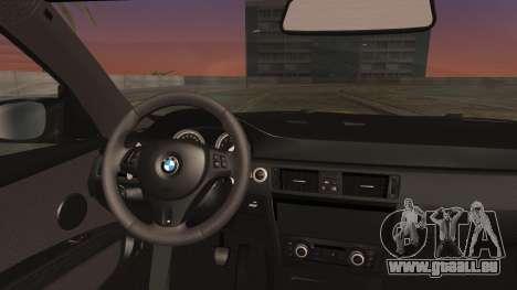 BMW M3 GTS 2011 IVF pour GTA San Andreas vue de droite