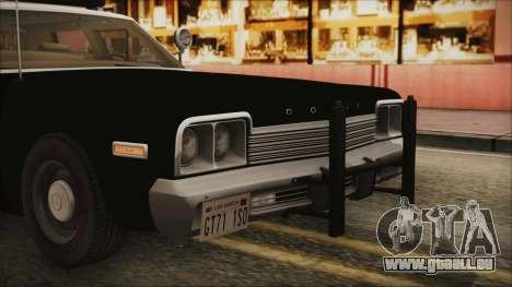Dodge Monaco 1974 LSPD IVF pour GTA San Andreas vue de côté