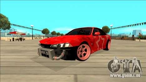Nissan Silvia S14 Drift Red Star für GTA San Andreas Rückansicht
