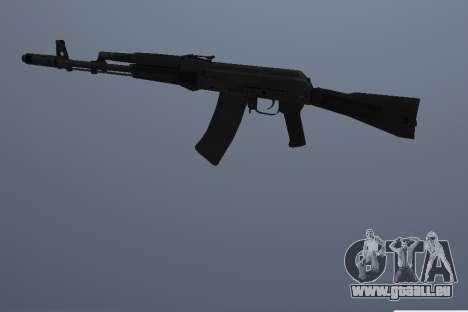 AK-74M pour GTA San Andreas troisième écran