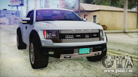 Ford F-150 SVT Raptor 2012 Stock Version für GTA San Andreas obere Ansicht