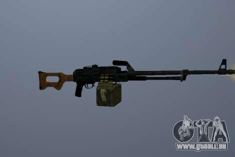 La Mitrailleuse Kalachnikov pour GTA San Andreas