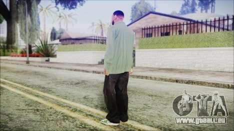 GTA 5 Grove Gang Member 1 pour GTA San Andreas troisième écran