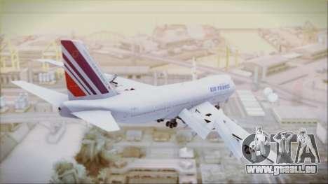 Boeing 747-128B Air France für GTA San Andreas linke Ansicht