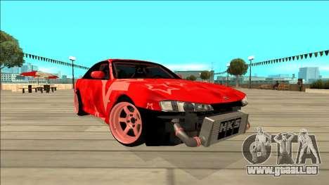 Nissan Silvia S14 Drift Red Star für GTA San Andreas Innenansicht