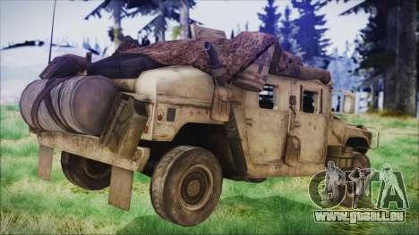 Humvee from Spec Ops The Line pour GTA San Andreas laissé vue