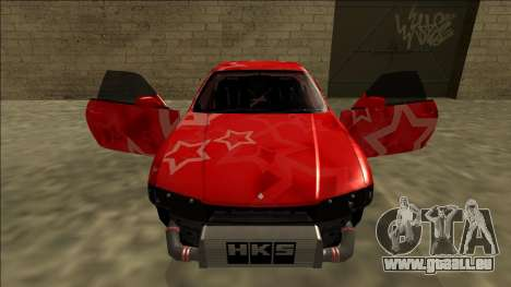 Nissan Skyline R33 Drift Red Star für GTA San Andreas Räder