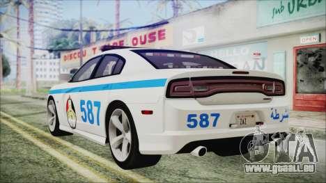 Dodge Charger SRT8 2012 Iraqi Police pour GTA San Andreas laissé vue