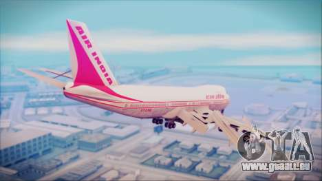 Boeing 747-237Bs Air India Himalaya pour GTA San Andreas laissé vue