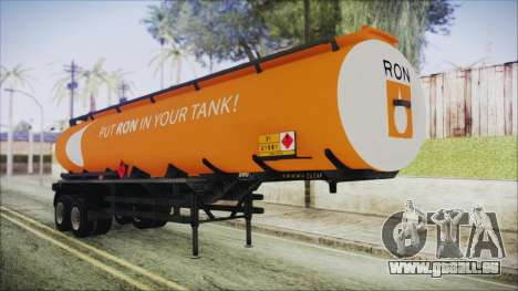 GTA 5 RON Tanker Trailer für GTA San Andreas
