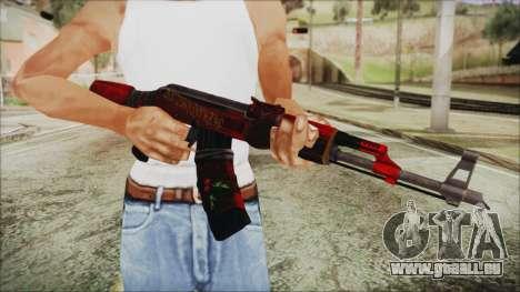 Xmas AK-47 pour GTA San Andreas troisième écran