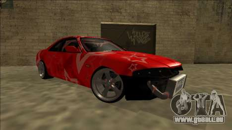 Nissan Skyline R33 Drift Red Star für GTA San Andreas obere Ansicht